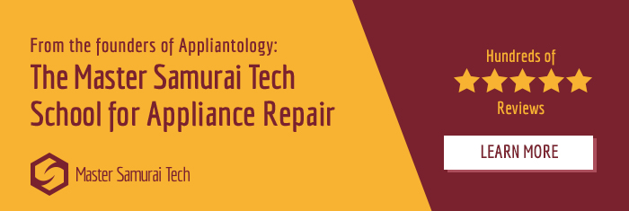 Click here to check out our structured, online appliance repair training courses for rookies and experienced techs.